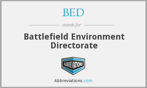 BED - Battlefield Environment Directorate