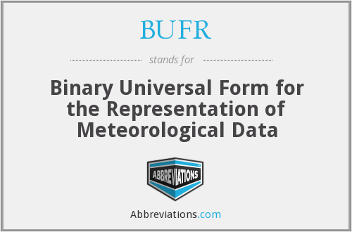 BUFR - Binary Universal Form for the Representation of Meteorological Data