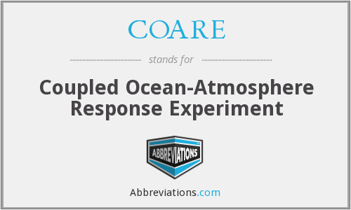 COARE - Coupled Ocean-Atmosphere Response Experiment