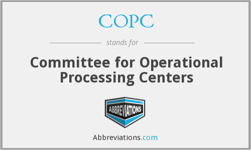 COPC - Committee for Operational Processing Centers