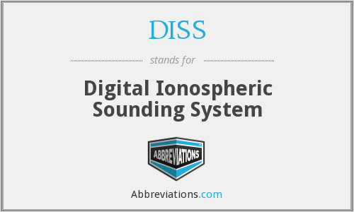 DISS - Digital Ionospheric Sounding System
