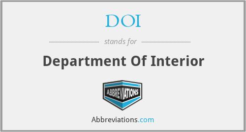 DOI - Department Of Interior