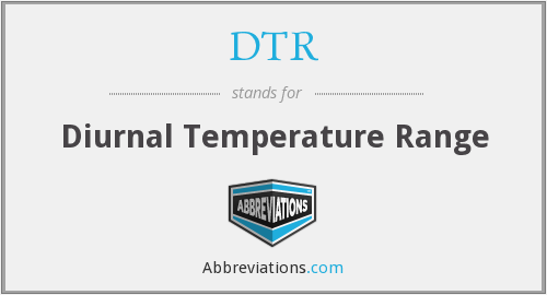 DTR - Diurnal Temperature Range