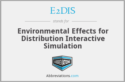 E2DIS - Environmental Effects for Distribution Interactive Simulation