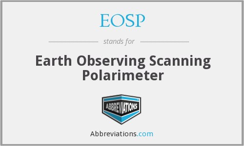 EOSP - Earth Observing Scanning Polarimeter