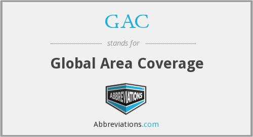 GAC - Global Area Coverage