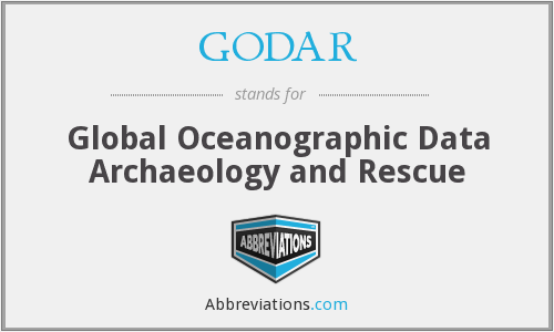 GODAR - Global Oceanographic Data Archaeology and Rescue