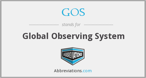 GOS - Global Observing System