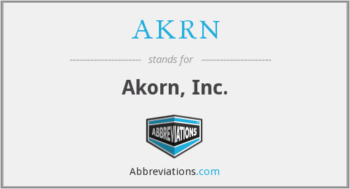 What does AKRN stand for?