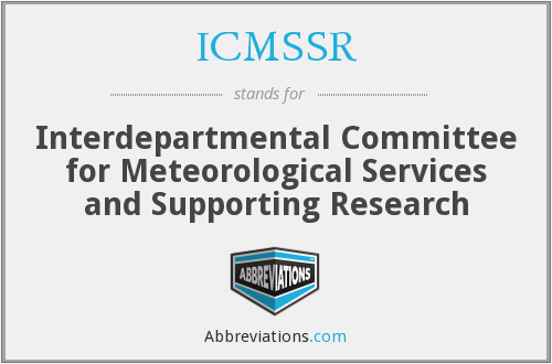 What does ICMSSR stand for?