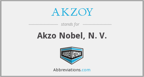 What does AKZOY stand for?