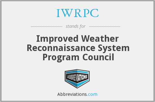 IWRPC - Improved Weather Reconnaissance System Program Council