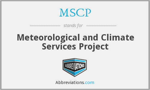 MSCP - Meteorological and Climate Services Project
