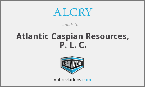 What does ALCRY stand for?