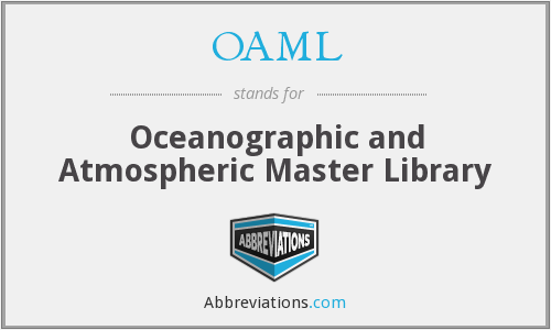 OAML - Oceanographic and Atmospheric Master Library