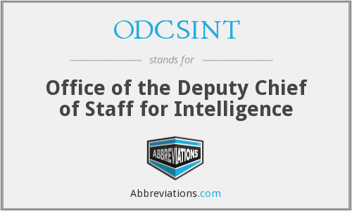 ODCSINT - Office of the Deputy Chief of Staff for Intelligence