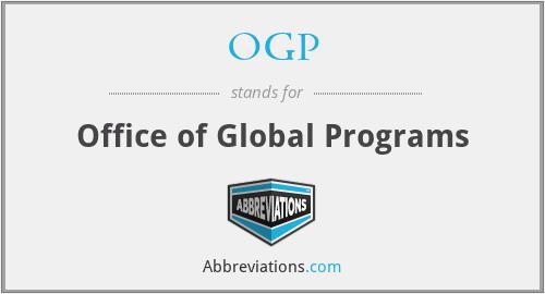 OGP - Office of Global Programs