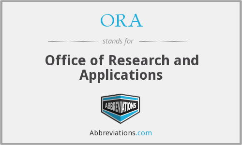 ORA - Office of Research and Applications