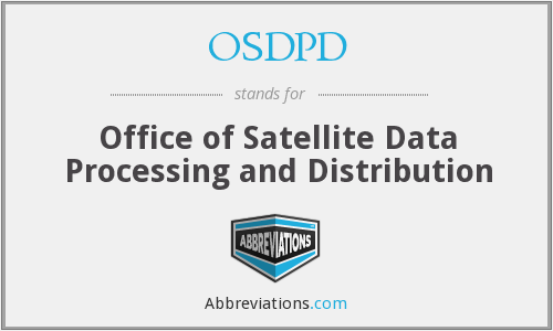 OSDPD - Office of Satellite Data Processing and Distribution