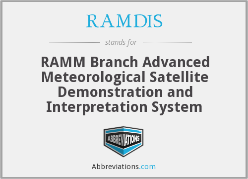 RAMDIS - RAMM Branch Advanced Meteorological Satellite Demonstration and Interpretation System