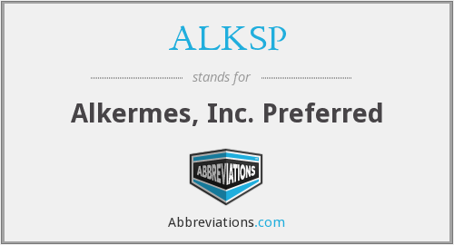 What does ALKSP stand for?