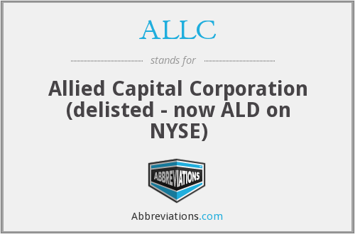 ALLC - Allied Capital Corporation (delisted - now ALD on NYSE)