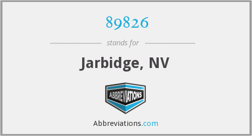 89826 - Jarbidge, NV
