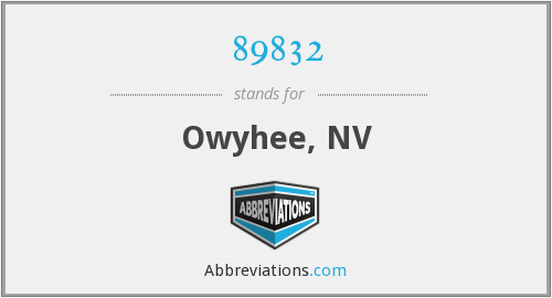 89832 - Owyhee, NV