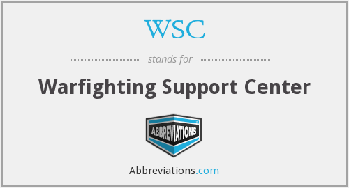 WSC - Warfighting Support Center