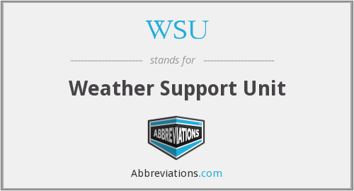 WSU - Weather Support Unit