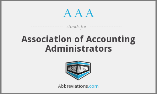AAA - Association of Accounting Administrators