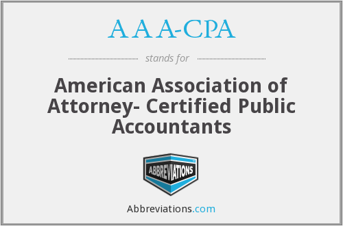 AAA-CPA - American Association of Attorney- Certified Public Accountants