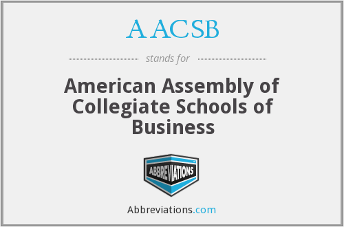 What does AACSB stand for?