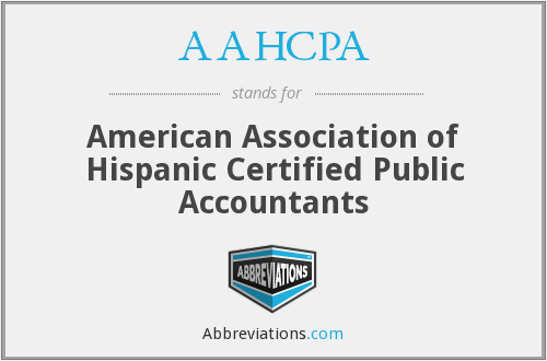 AAHCPA - American Association of Hispanic Certified Public Accountants
