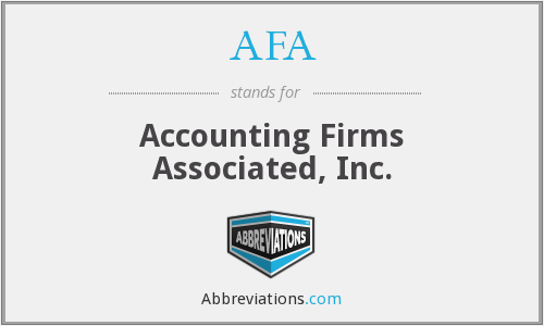 AFA - Accounting Firms Associated, Inc.