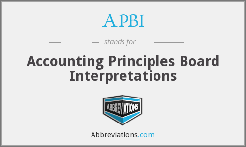 APBI - Accounting Principles Board Interpretations