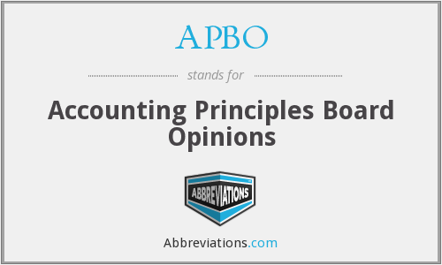 APBO - Accounting Principles Board Opinions