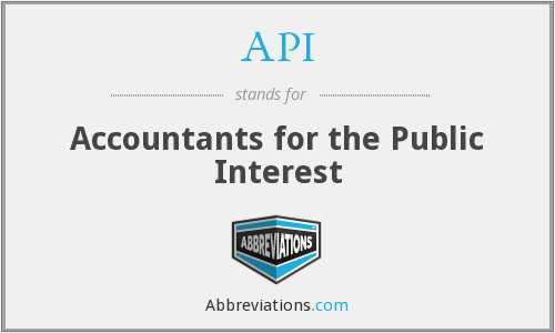 What does API stand for?