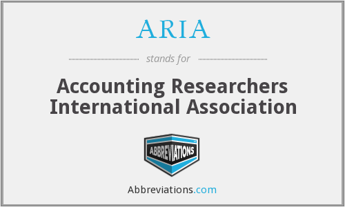 ARIA - Accounting Researchers International Association