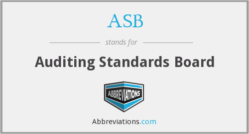 ASB - Auditing Standards Board