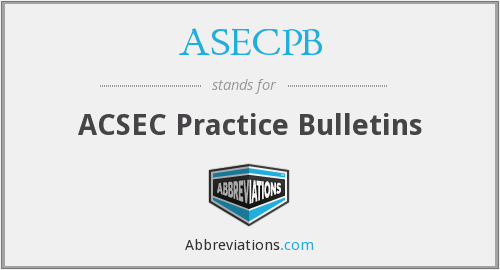 What does ASECPB stand for?