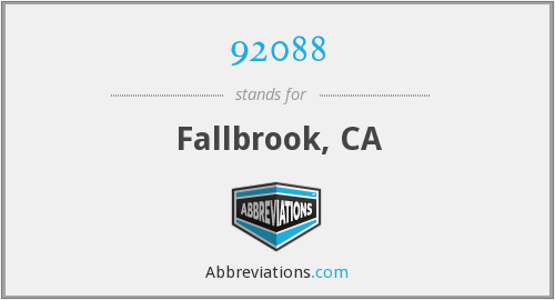 92088 - Fallbrook, CA