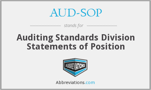 AUD-SOP - Auditing Standards Division Statements of Position