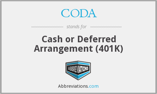 CODA - Cash or Deferred Arrangement (401K)