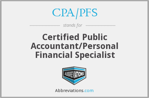 What does CPA/PFS stand for?