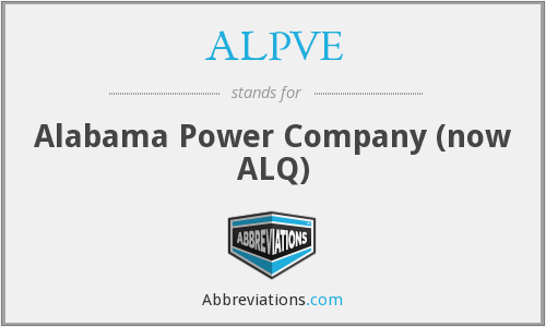ALPVE - Alabama Power Company (now ALQ)