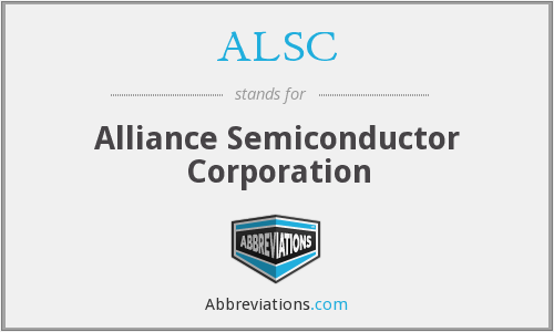 ALSC - Alliance Semiconductor Corporation