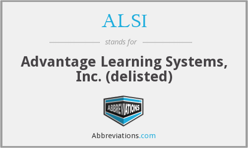 ALSI - Advantage Learning Systems, Inc. (delisted)