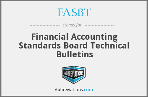 FASBT - Financial Accounting Standards Board Technical Bulletins