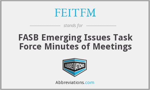 FEITFM - FASB Emerging Issues Task Force Minutes of Meetings